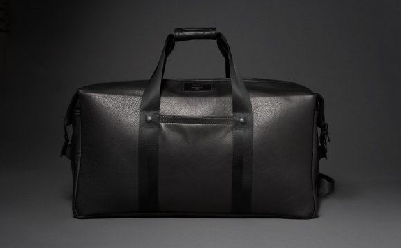 Black Leather Overnight Bag
