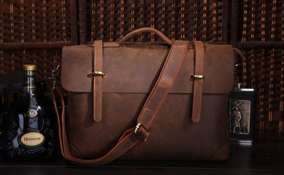Brown Mens MESSENGER bag