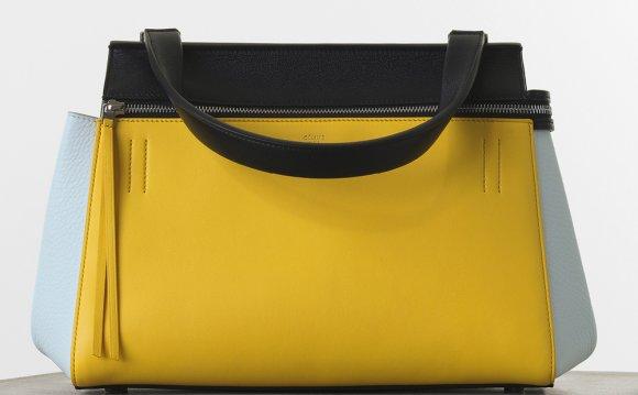 Celine yellow leather handbag