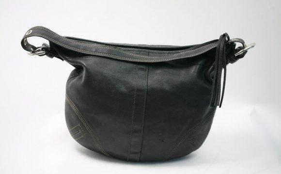 Coach Black Leather Hobo