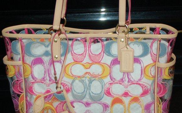 Coach clear handbags coach
