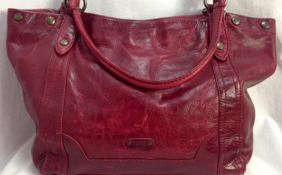 Frye Dark Red Distressed