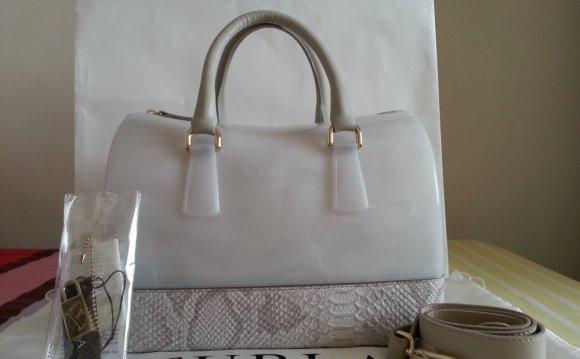 White Furla handbags