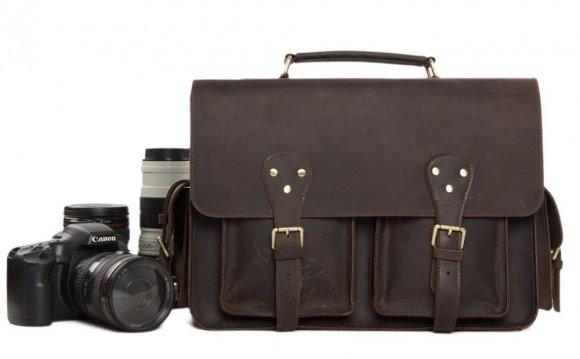 Leather DSLR Camera Bag