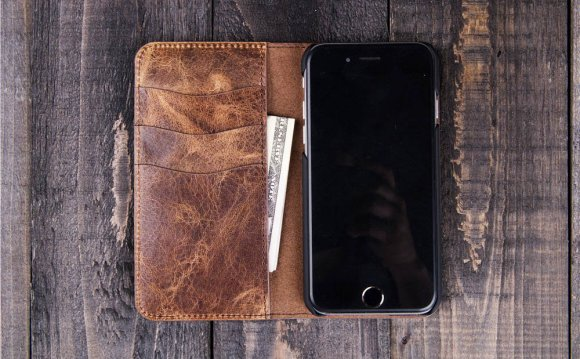 Iphone 6 wallet case leather