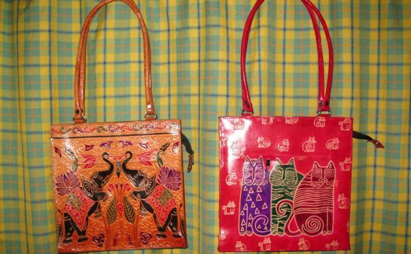 Ladies Hand Painted Leather