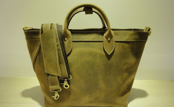 School Large leather tote
