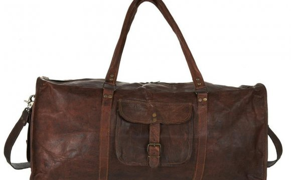 Mens Large Leather duffle