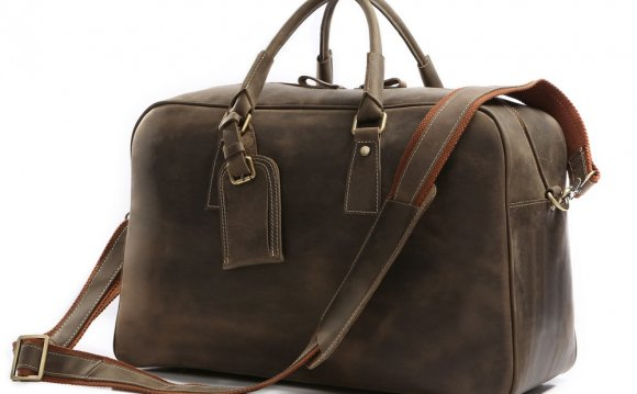 Leather Weekender Travel Bag