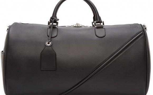 Loewe - Black Leather Duffle