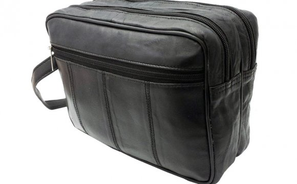 Mens Leather Travel Toiletry