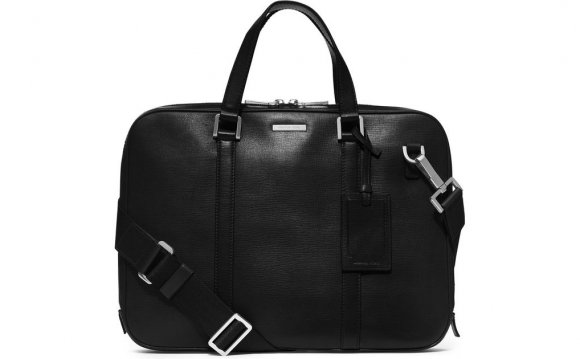 Slim Leather Briefcase in