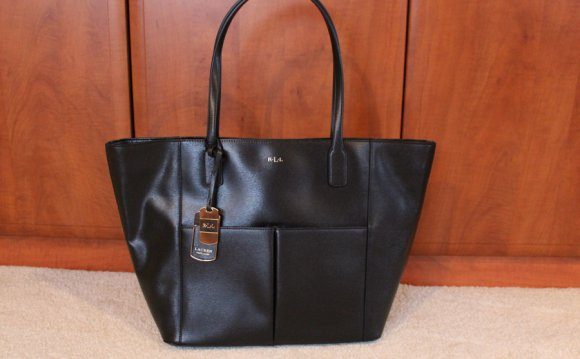 Ralph lauren tote bag leather