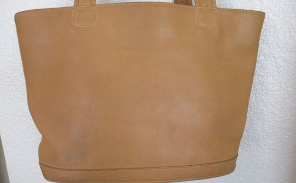 Large Brown Leather Coach Bag