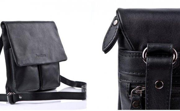 Small Black Leather Shoulder