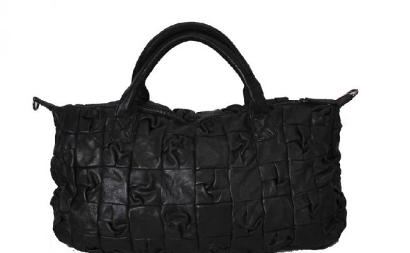 Black leather satchel handbags