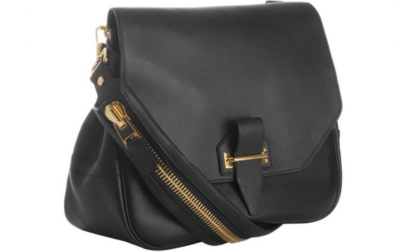 Tom ford Black Leather Zipper