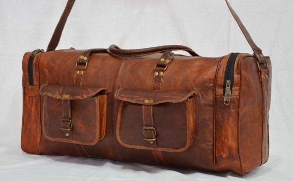 Vintage leather travel
