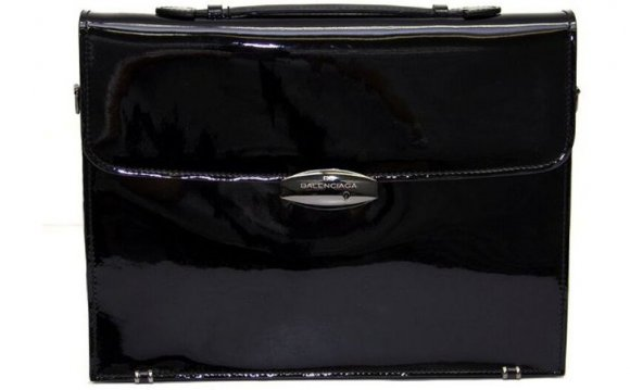 Patent Leather Briefcase