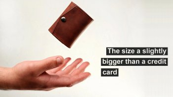 BORDO mini 2. Small Vintage Leather Wallet is Handmade project video thumbnail