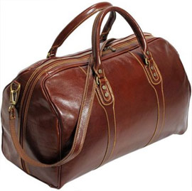 Cenzo Vecchio Brown Italian Weekender Travel Bag