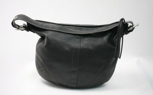 Coach Black Leather Hobo Handbag