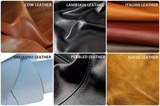 different types and qualities of leather for bags