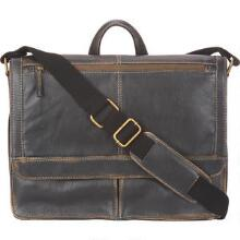 distressed leather messenger bag