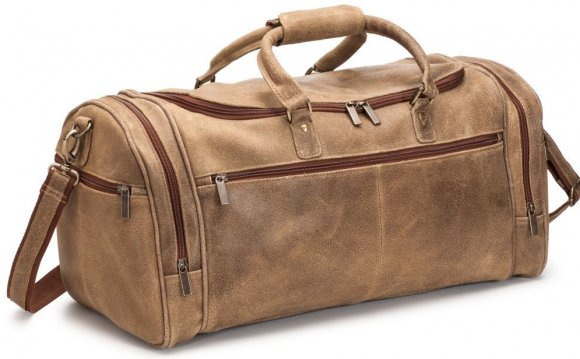 Distressed leather, Duffel Bag