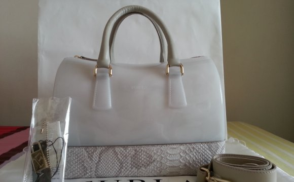 Furla White Leather Handbags