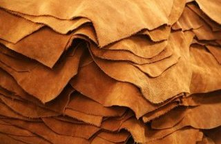 genuine cowhide leather scraps