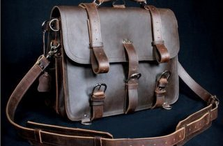 gorgeous vintage leather messenger bag by Serbags