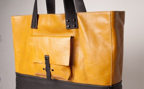 Yellow Tote Bags Leather