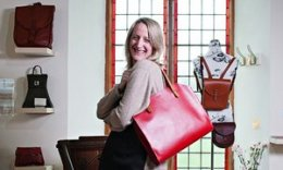 Hannah Booth with handbag