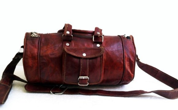 Leather Rolling Duffle Bag