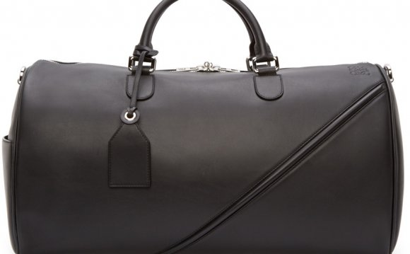 Black Leather Duffle Bags