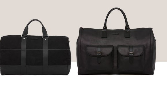 Mens Canvas and Leather Weekender Bag