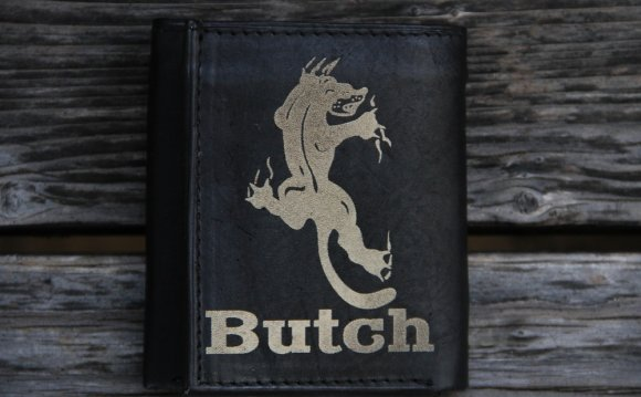 Personalized Tri Fold Leather Wallet