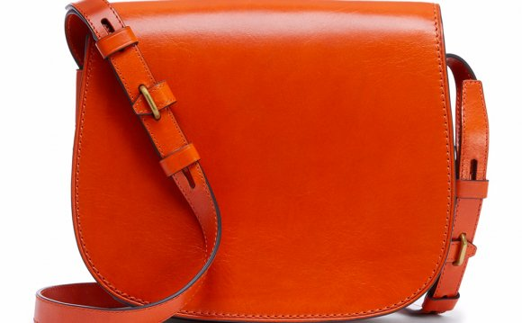 Coach Leather Saddle Bag