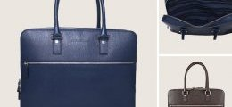 Salvatore Ferragamo Revival Calfskin Briefcase For Men