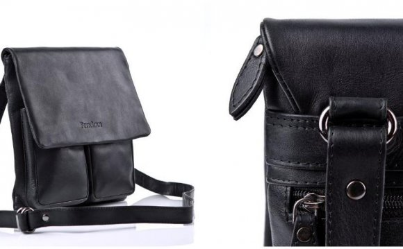 Small Black Leather Shoulder Bag