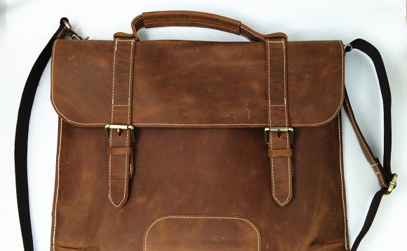 Leather Satchel Messenger Bag