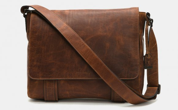 Rugged Leather Laptop Bag