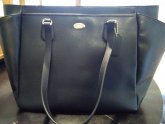 Black Leather Coach Diaper Bag