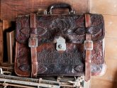 Hand Tooled Leather Briefcase