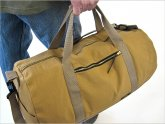 Leather Canvas Duffle Bag