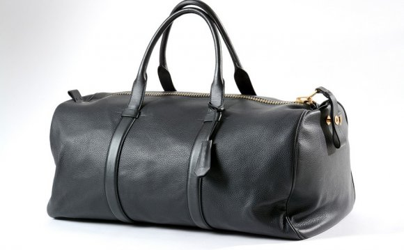 Black Leather Duffle Bags Mens