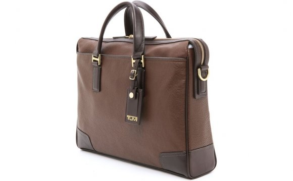Tumi Brown Leather Briefcase