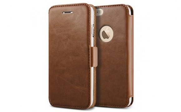Leather iPhone Wallet Case for Men