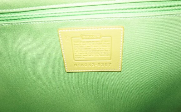Green Leather Coach Bags